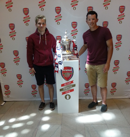 From left to right: Me, THE BLOODY F.A. CUP, Tyler.